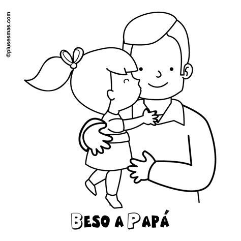 Colorear beso a papá