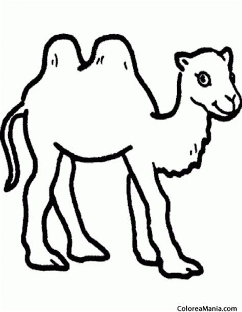 Colorear Camello. Camel. Silueta (Animales del Desierto ...