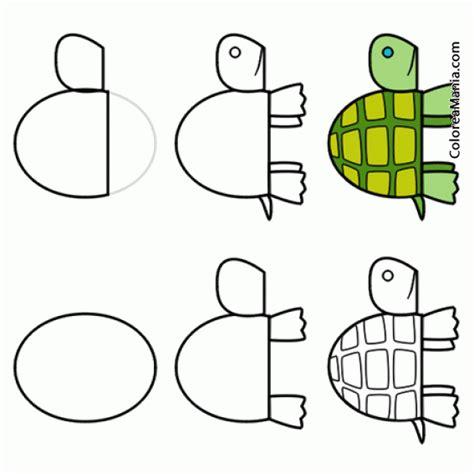 Colorear Dibujar tortuga de tierra 2 (Como dibujar una ...