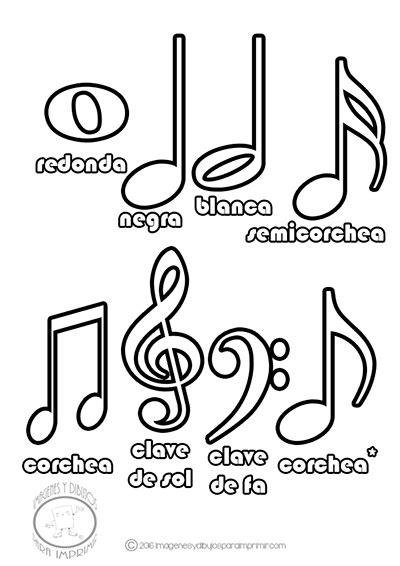 colorear las notas musicales | Cumpleaños | Pinterest ...