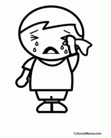 Colorear Niño llorando desconsoladamente  Expresión y ...