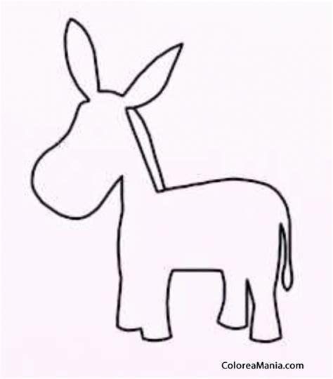 Colorear Silueta burro, infantil (Animales Domésticos ...