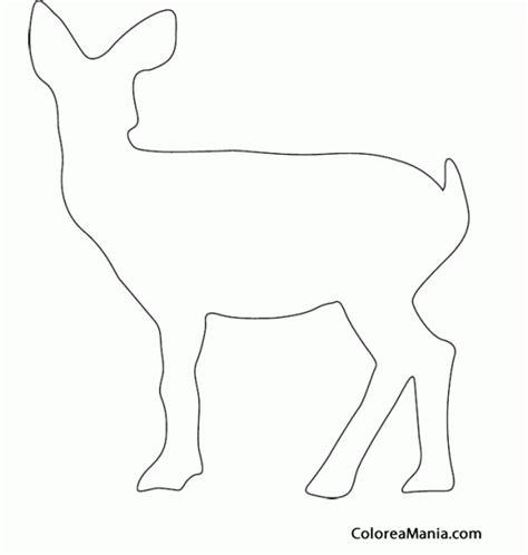 Colorear Silueta Cervatillo (Animales del Bosque), dibujo ...