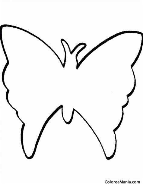 Colorear Silueta Mariposa (Insectos), dibujo para colorear ...