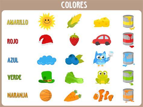 COLORES EN INGLÉS Y ESPAÑOL ® Ejercicios para niños
