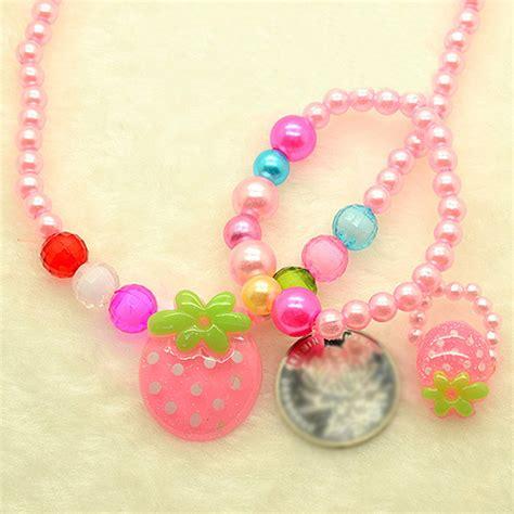 Colorful Bracelets Set Beads Necklaces Jewellery Children ...