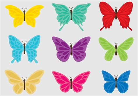 Colorful Butterflies - Download Free Vector Art, Stock ...