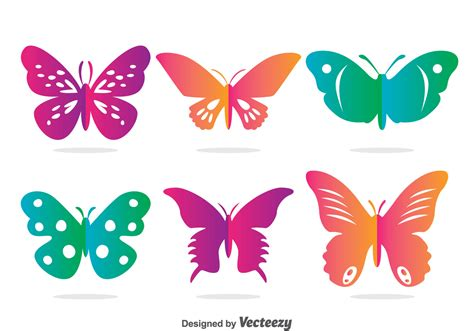 Colorful Butterfly Vector Set - Download Free Vector Art ...