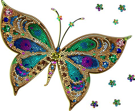 Colorful Flying Butterfly Clipart