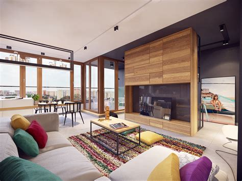 Colorful Modern Apartment Design Uses Space to Beautiful ...