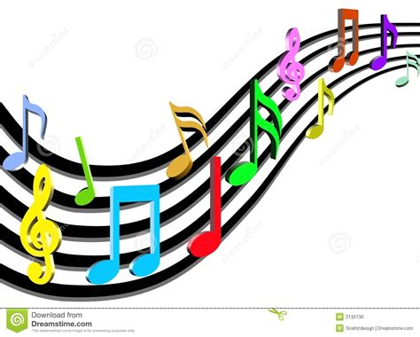Colorful Music Notes In A Line | Clipart Panda   Free ...