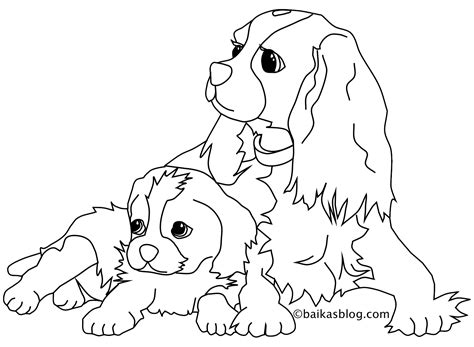 coloriage chien assis
