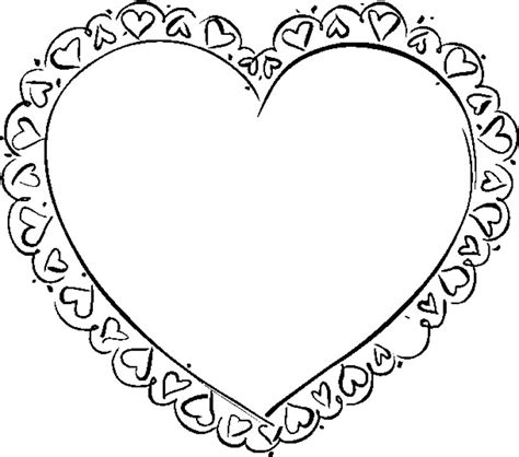 Coloriage coeur à imprimer