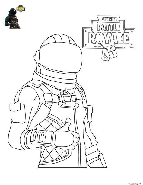 Coloriage Fortnite Battle Royale personnage 4   JeColorie.com