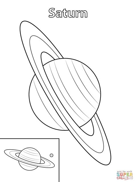 Coloriage - La planète Saturne | Coloriages à imprimer ...