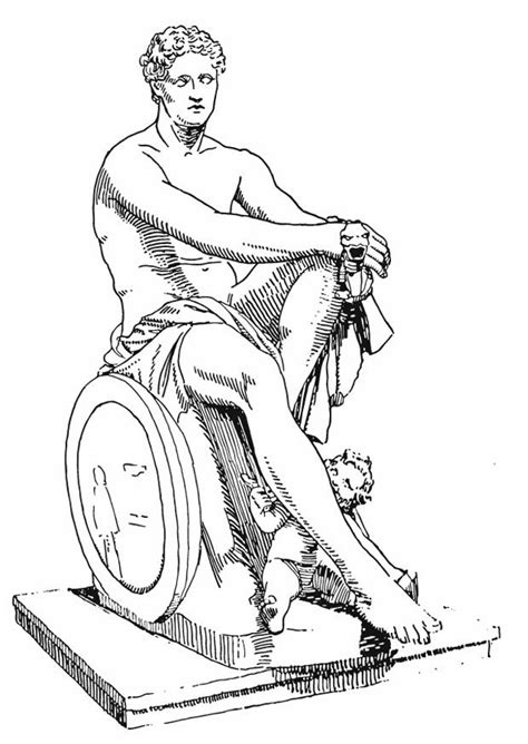 Coloring page Ares, Greek God   img 13206.