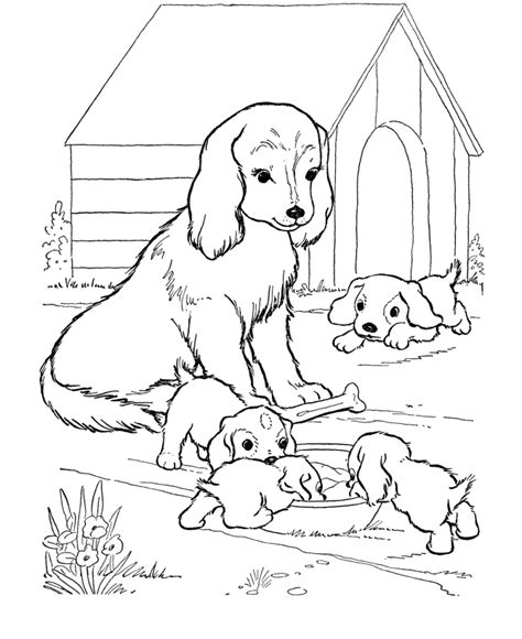 Coloring Pages: Dogs Coloring Pages Free and Printable