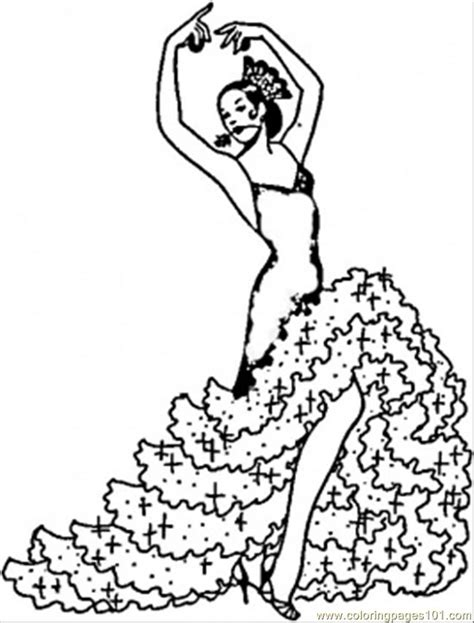 Coloring Pages Flamenco Girl (Countries > Spain) - free ...