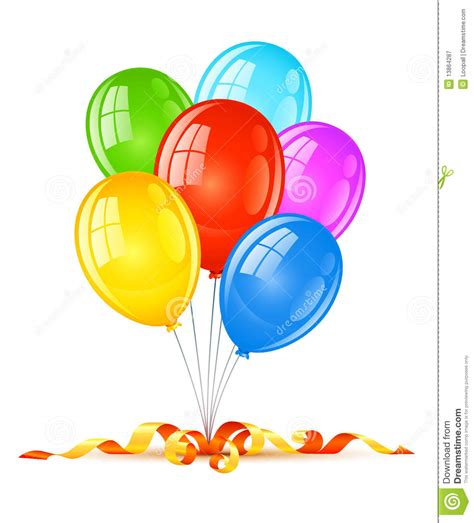 Coloured Balloons For Birthday Holiday Celebration Stock ...