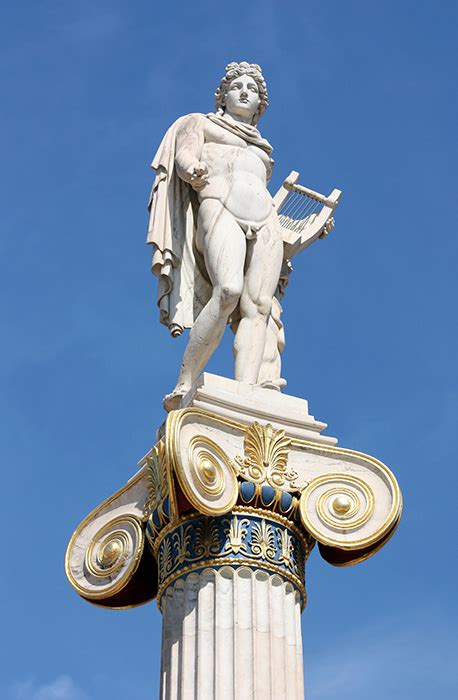 Columna con el dios Apolo. Academia de Atenas