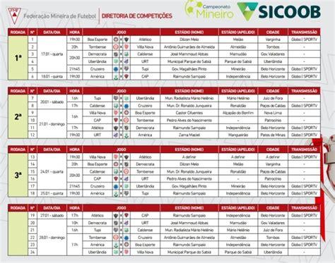 Com nova fórmula, Campeonato Mineiro 2018 tem tabela ...