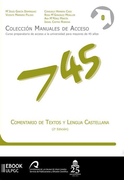 Comentario de textos y Lengua castellana by Biblioteca ...
