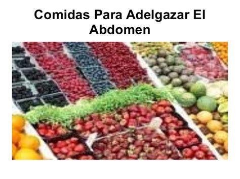 Comidas para adelgazar el abdomen pdf