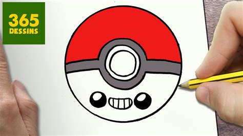 COMMENT DESSINER POKEBALL KAWAII ÉTAPE PAR ÉTAPE – Dessins ...