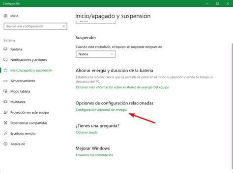 Cómo añadir la opción  Hibernar  al menú inicio de Windows 10