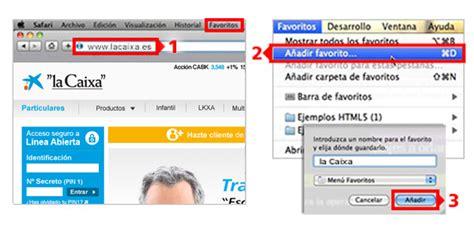 """Cómo añadir www.lacaixa.es a tus favoritos   """"la Caixa"""""""