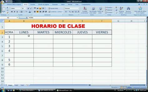 ¿Como aplicar formato a un horario elaborado en Excel ...