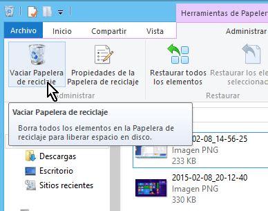 Cómo borrar archivos permanentemente en Windows 8 - TecniComo