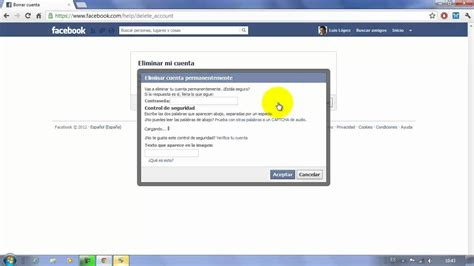 Cómo borrar mi cuenta de Facebook definitivamente ...