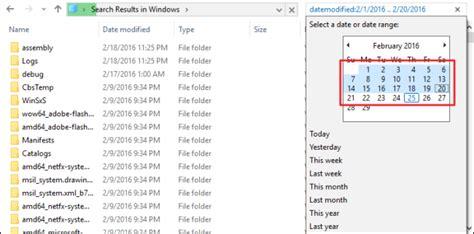 ¿Cómo buscar archivos en Windows 10 y Windows 8 por fecha?