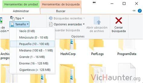 Cómo buscar archivos por tamaño personalizado en Windows ...