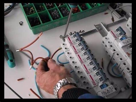 Cómo cablear un cuadro eléctrico,  3/6    YouTube
