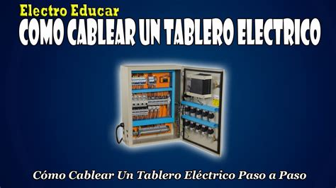 COMO CABLEAR UN TABLERO ELECTRICO | Como cablear un ...