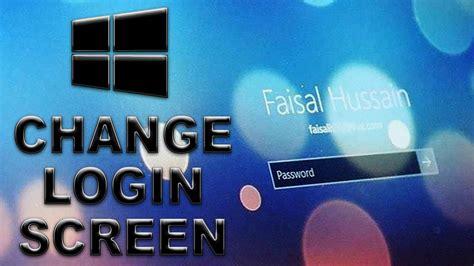Cómo cambiar la pantalla de inicio de sesión de fondo a un ...