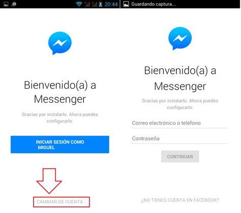 Como cerrar sesión en la app Messenger de Facebook ...