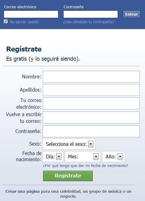 Como crear cuenta en Facebook   Como Iniciar Sesion en