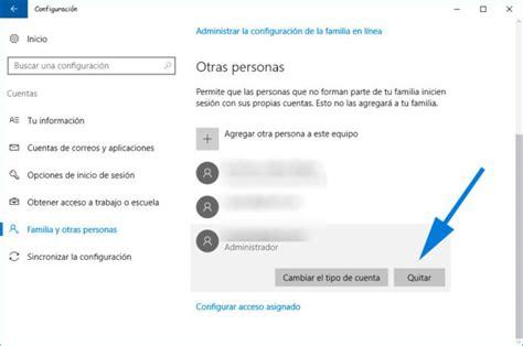Cómo crear o borrar una cuenta de usuario administrador en ...