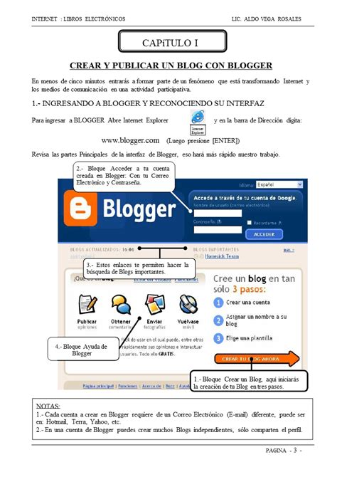 Como crear un blog con Blogger   Monografias.com