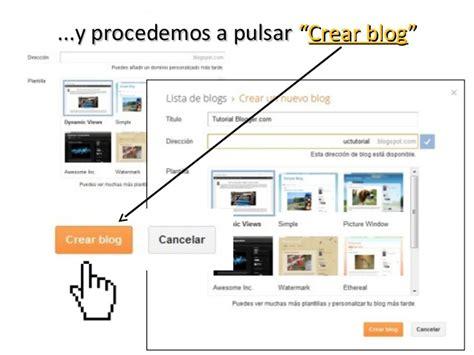 Cómo crear un Blog en Blogger.com