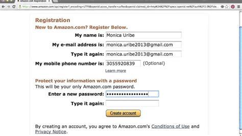 Como crear una cuenta en Amazon con tu casillero ...