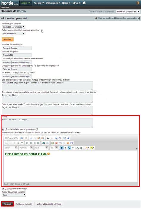 Cómo crear una firma de correo electrónico con Horde ...