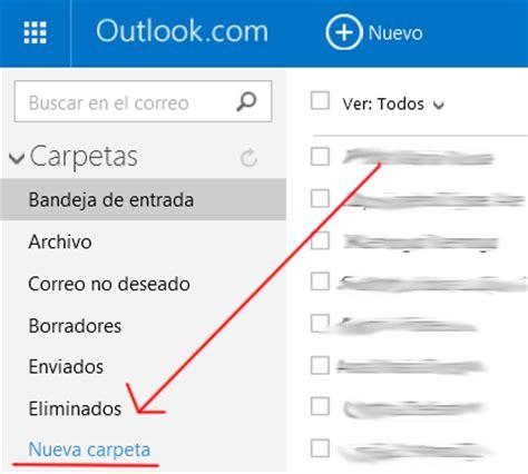 Cómo crear una nueva carpeta en Hotmail.com