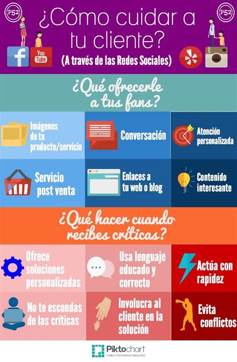 Cómo cuidar a tu cliente  con Redes Sociales  #infografia ...