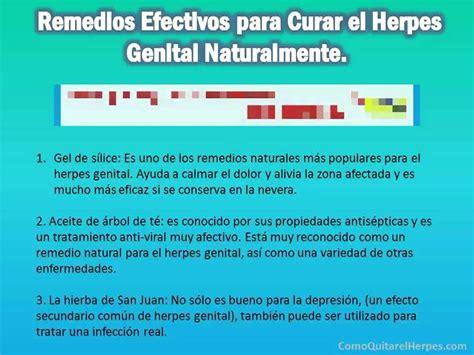 Como Curar el Herpes Genital Medicina Natural   3 Remedios ...