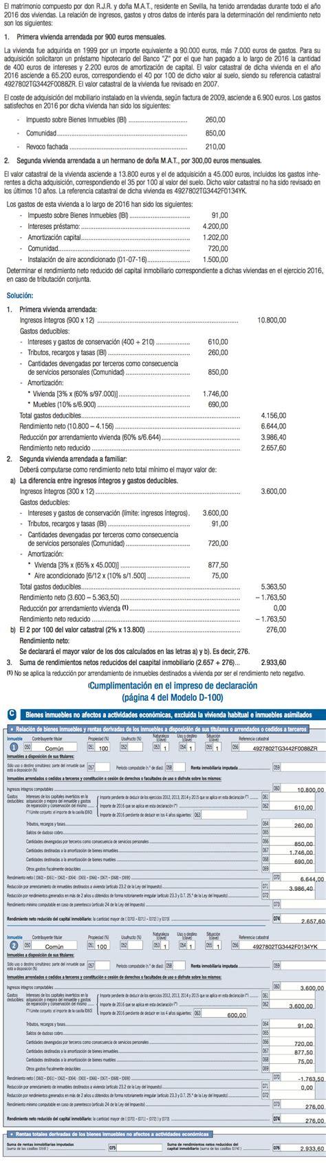 Cómo declarar el alquiler en la renta 2016   Caseros ...