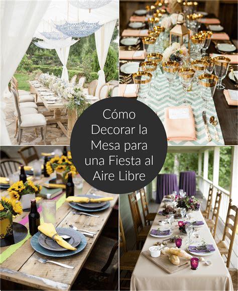 Cómo decorar la mesa para una fiesta al aire libre